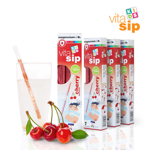 [비타십] 비타민빨대 체리 7개입 x 4개(마그네슘&비타민B6)